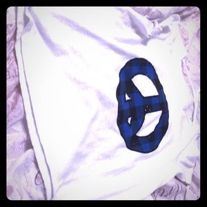 Tops - Peace sign white and blue justice shirt